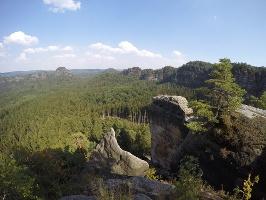Foto Toller Ausblick vom Winterstein (Hinteres Raubschloss)
