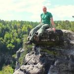 Aussichtsreicher Sitzplatz an der Goldsteinaussicht in der Sächsischen Schweiz