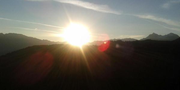 Morgensonne auf der Frischmannhütte