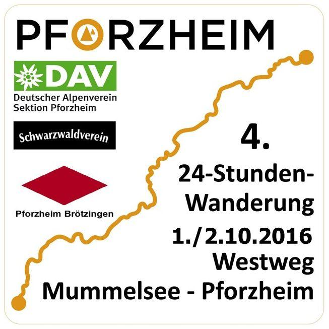 24 Stunden Wanderung 2016 Westweg: Mummelsee - Pforzheim. Schwarzwald-Wanderopening
