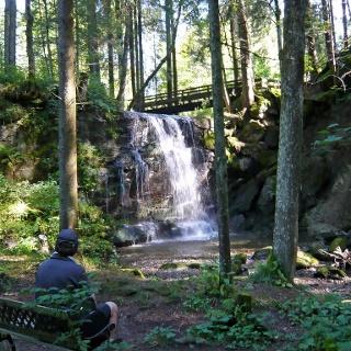 Speckbach Wasserfall von unten