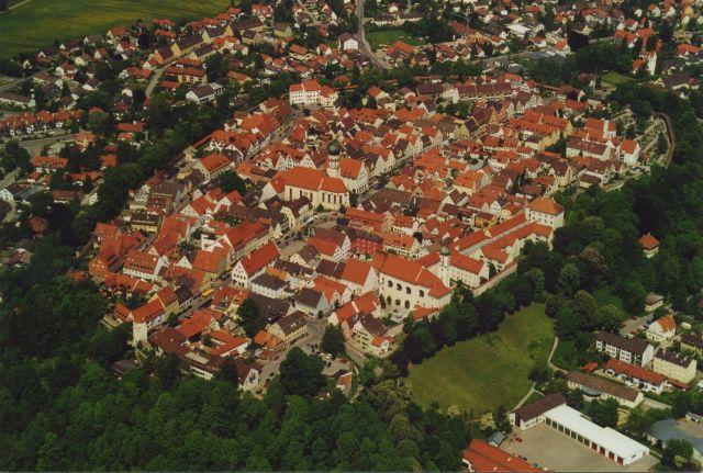 Luftaufnahme der historischen Altstadt von Schongau (Andreas Klausmann)