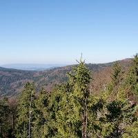 Aussicht vom Klausenstein zum Hirschenstein