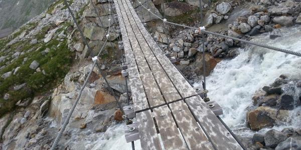 Hängebrücke vor der Olpererhütte