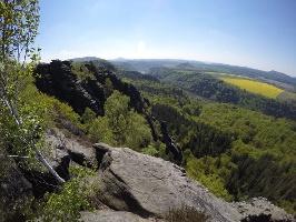 Foto Rundum toller Ausblick von der Schrammsteinaussicht