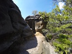 Foto Der kelchförmige Felsen am Zurückesteig