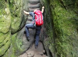 Foto Die schlüpfrige Ausstiegstreppe in der Wilden Hölle