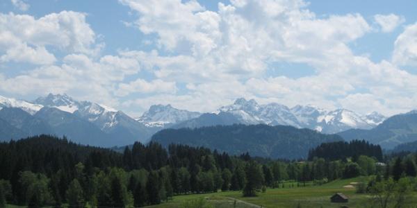 Aussicht von Sigiswang auf die Oberstdorfer Berge