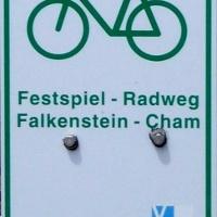 Markierung Festspiel-Radweg