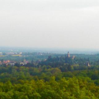 Blick nach Frankfurt mit der Kronberger Burg