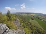 Foto Blick vom Papststein nach Papstdorf