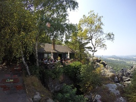 Foto Die Berghütte auf dem Papststein