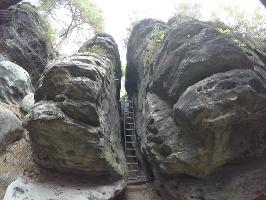 Foto Der obere Teil der Falkenschlucht (Westaufstieg)