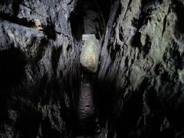 Foto Blick in die Tiefe der Schwedenhöhle