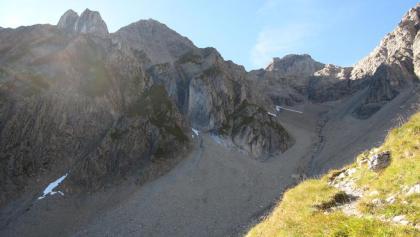 Gasillschlucht mit Parseierspitze (halbrechts) 3036m