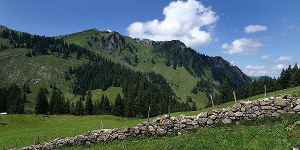 Blick auf den Hirschberg vom Stogger Sattel