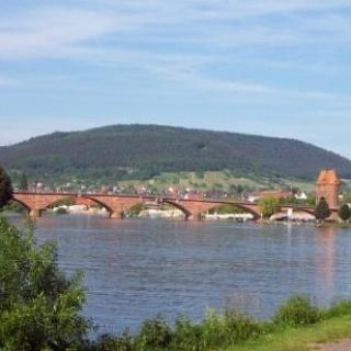 Ansicht auf die Brücke Miltenberg