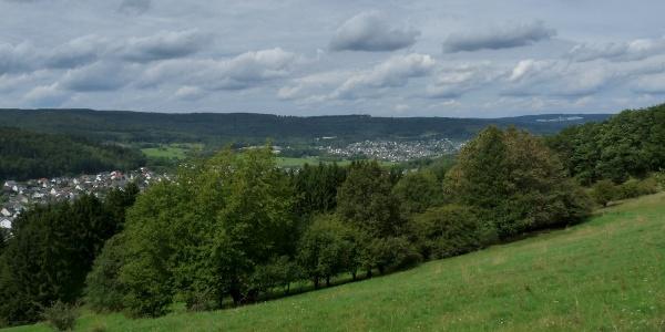 Panoramablick auf Niederdresselndorf