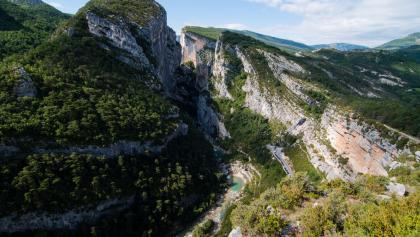 Vue depuis le Point Sublime sur les gorges du Verdon