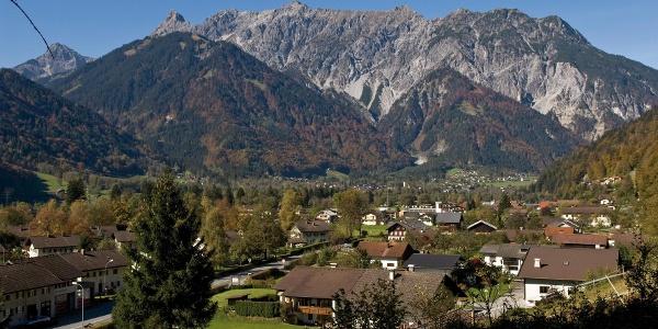 Ausblick vom Gaueserwaldweg nach Gantschier