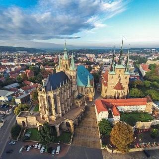 Erfurter Dom von oben