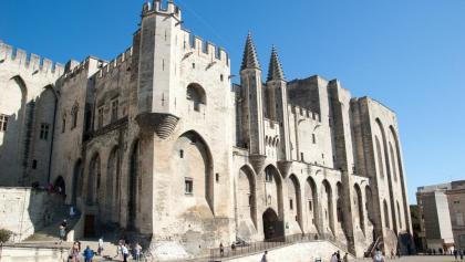 Der Papstpalast in Avignon
