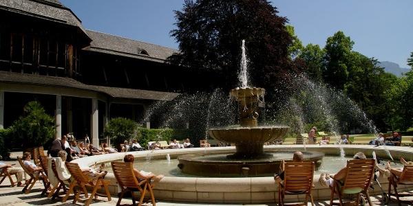 Kurgartenbrunnen und Gradierwerk Bad reichenhall