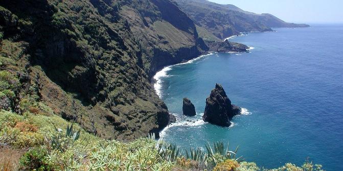 Küstenstreifen im Norden der Insel.