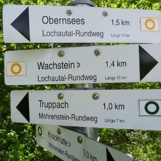 Wegeweiser Rundweg Lochautal