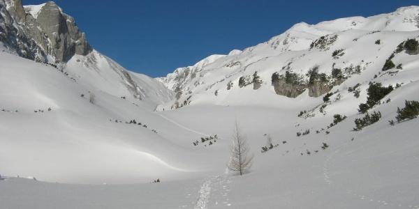 Aufstieg Obere Dullwitz ca. 1700m