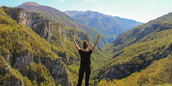 View over Rakitnica canyon