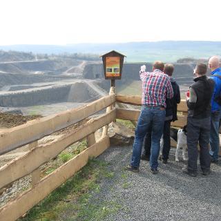Einblick in den Basalttagebau Nieder-Ofleiden