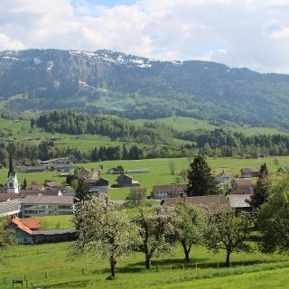 Blick auf Lingenau
