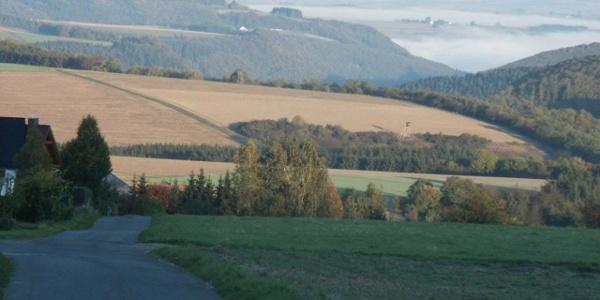 Blick über Mermuth in die Eifel