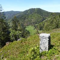 Aussichtspunkt Roter Felsen/Eck mit Belchen im Hintergrund