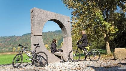 Kosmosradweg_Urknall, eine der Stationen des Radweges