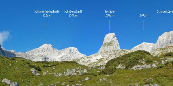 Blick auf die Torsäule vom Ochsenkar (Franz Schweitzer Weg)