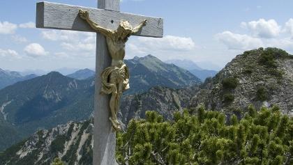 Gipfelkreuz am Bayerischen Schinder.