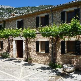 Weinpergola vor dem Refugi Tossals Verds