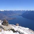 In traumhaft schöner Lage thront die Capanna Al Legn hoch über dem Lago Maggiore.