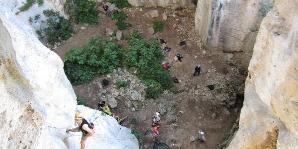 Grotta dell´Edera von oben