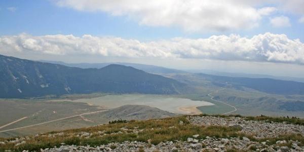 Pogled s Vrana na Blidinje jezero