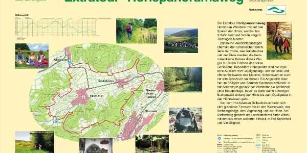"""Wegeportal Extratour """"Hörlepanoramaweg"""" in Oberhörlen"""