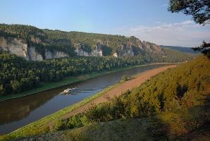 Foto Blick auf die Elbe.