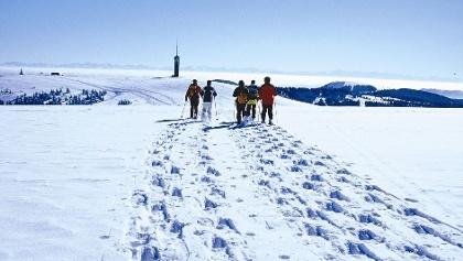 Mit Schneeschuhen auf den Feldberggipfel