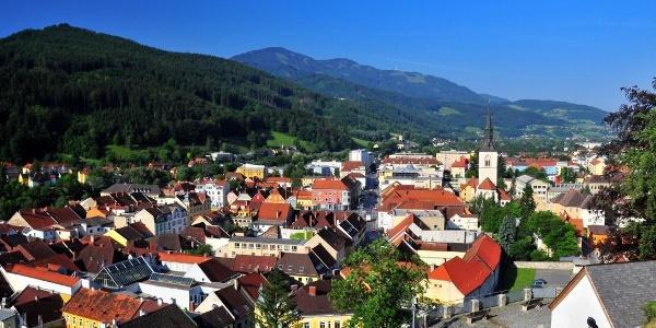 Blick vom Schlossberg auf die Brucker Altstadt