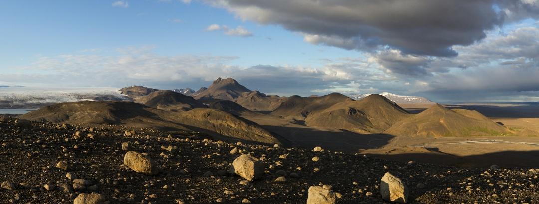 Mountain range of Jarlhettur in Iceland