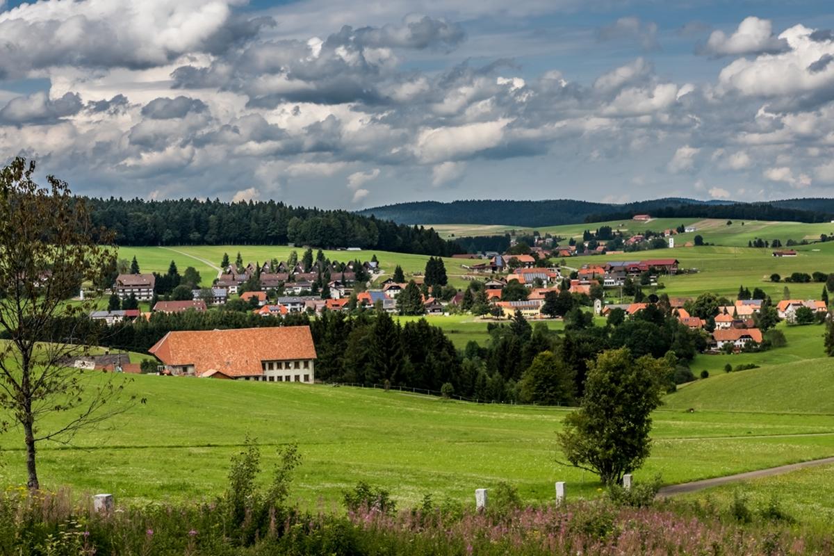 Blick von der Marienkapelle nach Niedergebisbach