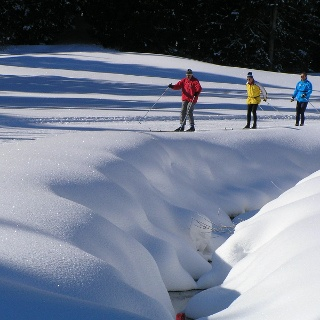 Cross-country skiing in Ofterschwang