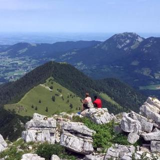 Enjoying the outlook at Aiplspitz
